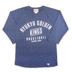 T-SHIRT-YA.COM | RYUKYU GOLDEN KINGS 2013-14 ARCH ヴィンテージラグラン | Tシャツ屋ドットコム