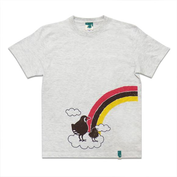 【つながるデザインTシャツ】レインボークイナ
