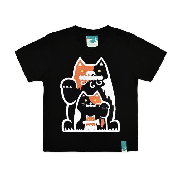 三毛猫シーサーキッズ/ブラック