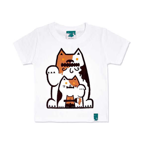 三毛猫シーサーキッズ/ホワイト