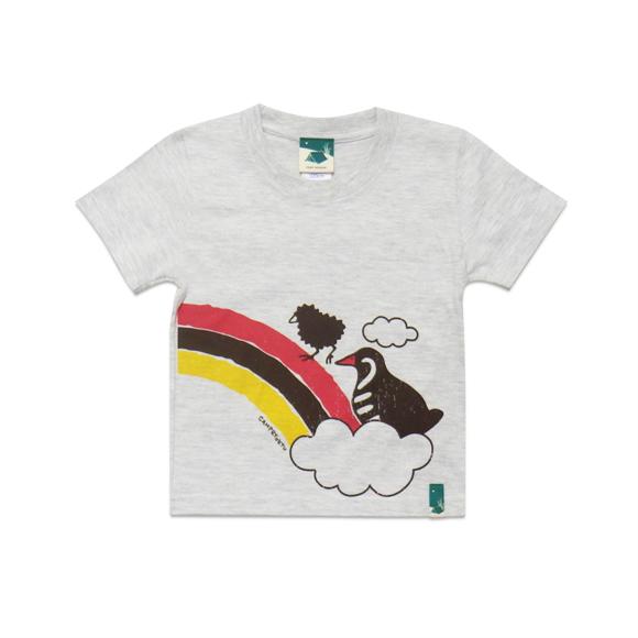 【つながるデザインTシャツ】レインボークイナ キッズ