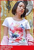 CAMP RYUKYU butterfly/Tシャツ