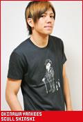 沖縄ヤンキース スカル紳士/Tシャツ
