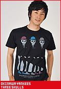 沖縄ヤンキース THREE SKULLS/Tシャツ